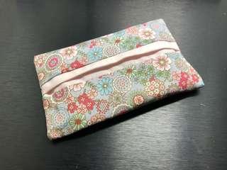 Handmade Japanese Pink floral Tissue holder
