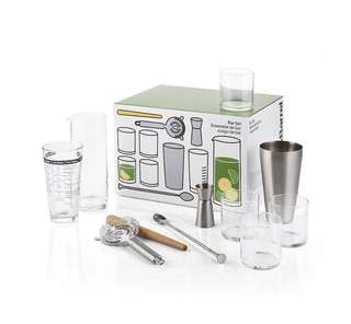 Crate and Barrel 11-Piece Boxed Bar Set