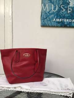 preloved coach red bag reprice