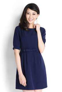 Lilypirates Valentino Bow Dress In Navy Blue (M)