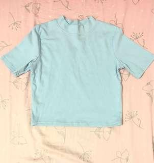 🚚 水藍短版上衣