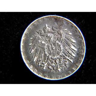 1916年德意志帝國皇家大鷹國徽10分寧鐵幣(德皇威廉二世時期)