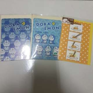 (BN) Gudetama / Doraemon Greeting Wishes Cards
