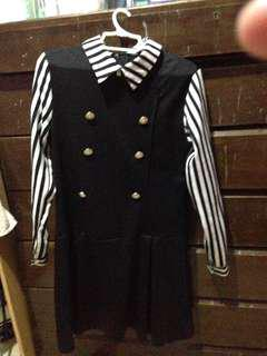 Stripe Black and white dress