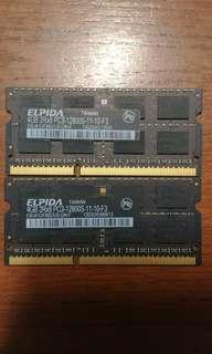 2x4GB DDR3 RAM