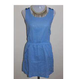 Soft denim dress for women