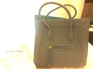 Celine Medium Luggage Phantom Hangbag Ocean