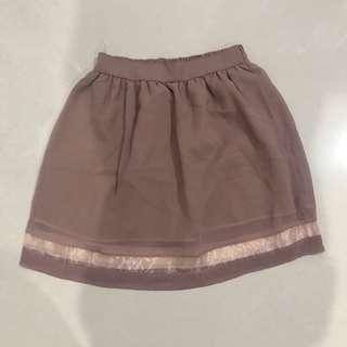 Organza skirt mauve