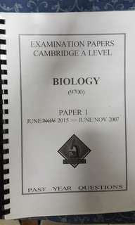 AS LEVEL biology paper 1 pyp