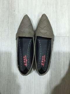 全新-尖頭粗編織鞋