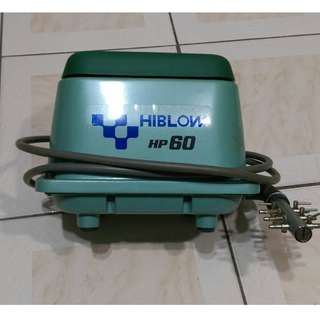 HIBLOW 高規【空氣馬達 HP-60】打氣機 空氣幫浦 泵浦 靜音、省電 魚事職人 二手