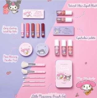 Preorder Cute press Sanrio melody x Kuromi makeup set