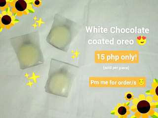 White Chocolate coated Oreos 🍪✨