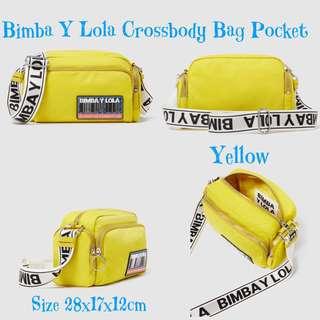 Bimba Y Lola Yellow Crossbody Bag Pocket
