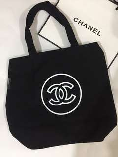 Chanel Tote Bag 黑色布袋
