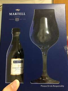 Martell Cordon Blue with Wine Glass