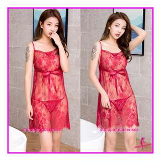 Sexy Lingerie Sleepwear Costume Nightwear Body Stockings Baju Tidur Pajamas TS7290 Red