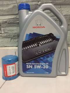 Honda Genuine Engine Oil 5W30 4L + Original Oil Filter