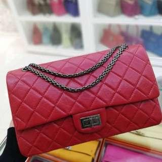 99新 Chanel 紅色牛皮227 ❤️原價5萬多