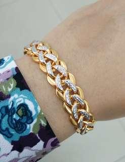 916 Frozen Gold Bracelet
