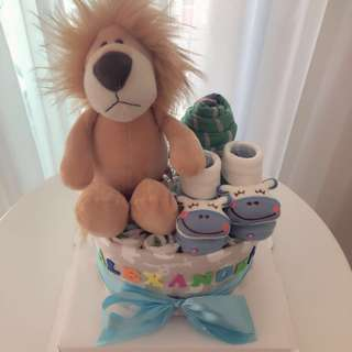 🚚 Baby Diaper Cake Standard 1-Tier for New Born / Baby Shower / Birthday Presents