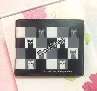 COOL CAT Black & White Wallet