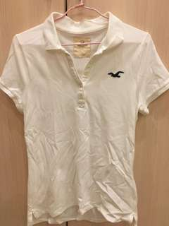 Hollister白polo衫