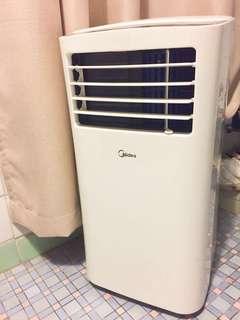 9成新!美的移動冷氣機1匹