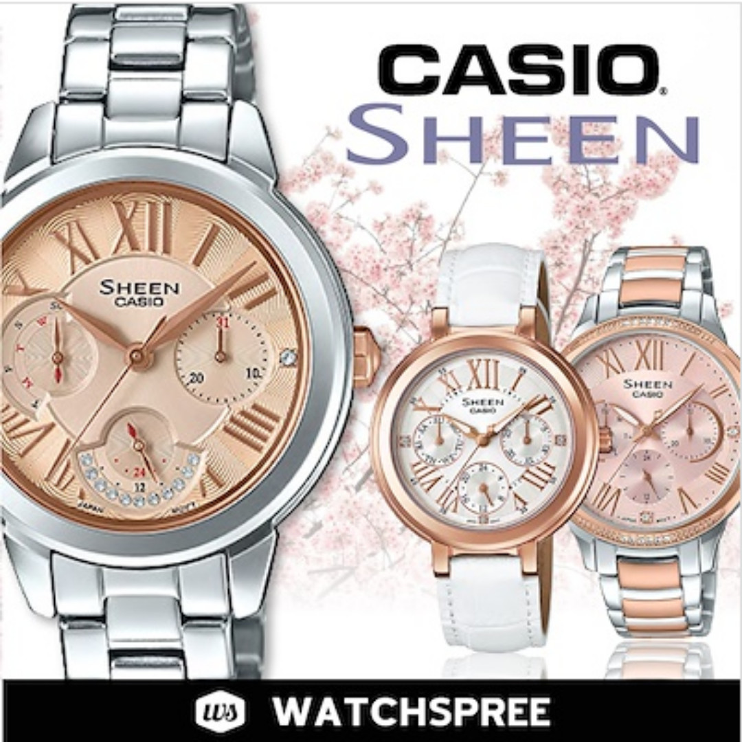 1dd4fbb07b8d 25% OFF COUPON  CASIO LADIES SHEEN WATCHES! Free Shipping and 1 Year ...
