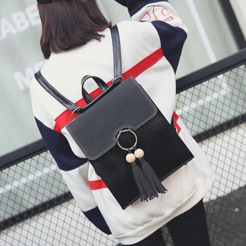7eb62793bf7 2-way Sling/Backpack Korean Fashion Bag back pack Ulzzang kpop bagpack Boxy  Square trendy young girl women woman ladies lady , Women's Fashion, Bags ...