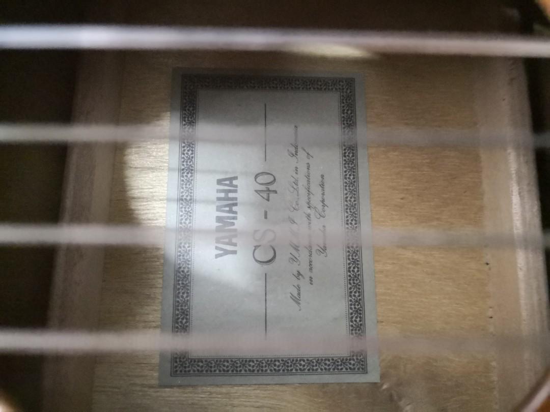 新淨36吋 yamaha古典吉他cs-40一把配袋