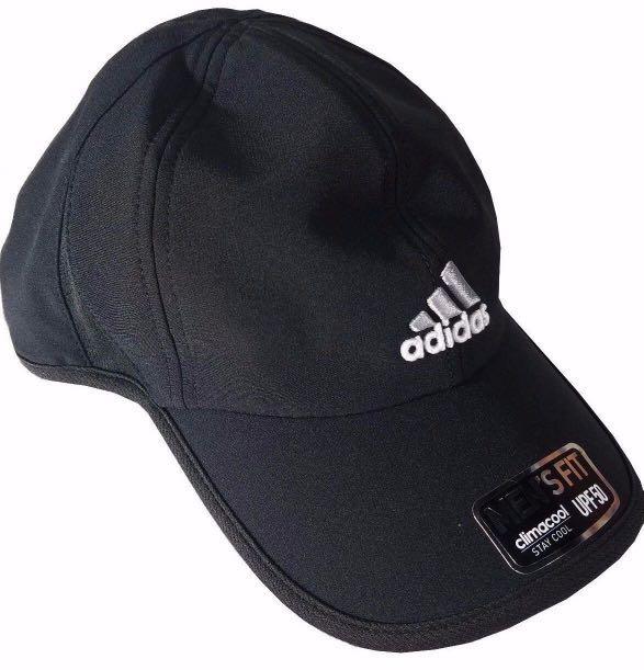 ef5f5e053028 ADIDAS ADIZERO MEN S CAP ADJUSTABLE FIT HAT CLIMACOOL UPF50 - BLACK ...