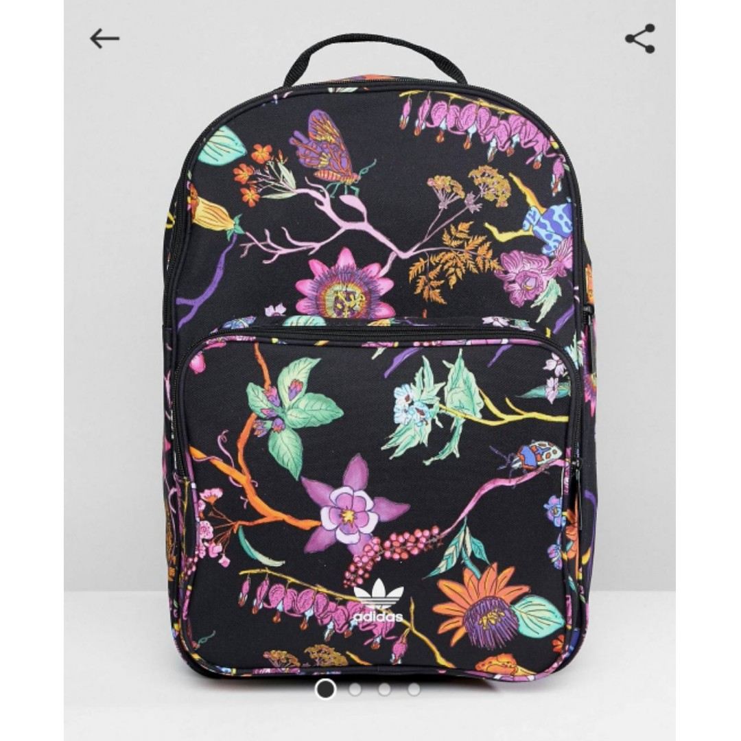 Adidas Originals Floral Backpack 0ddb35a623791
