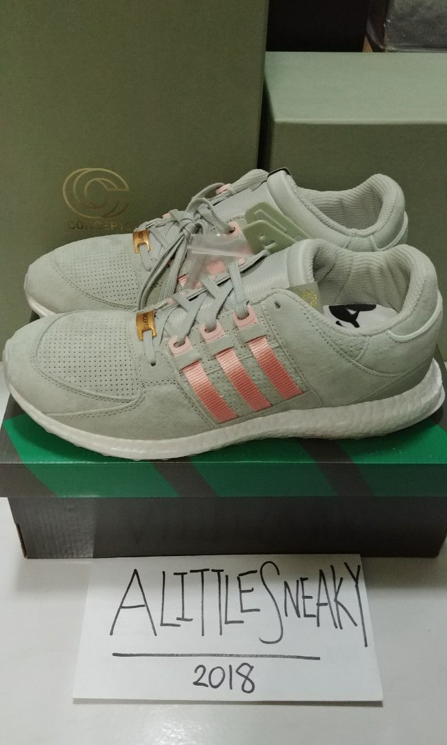 97aa9a0ed7f adidas x Concepts EQT Support 93/16 Ultra Boost Sage S80559 UK 10 US 10.5