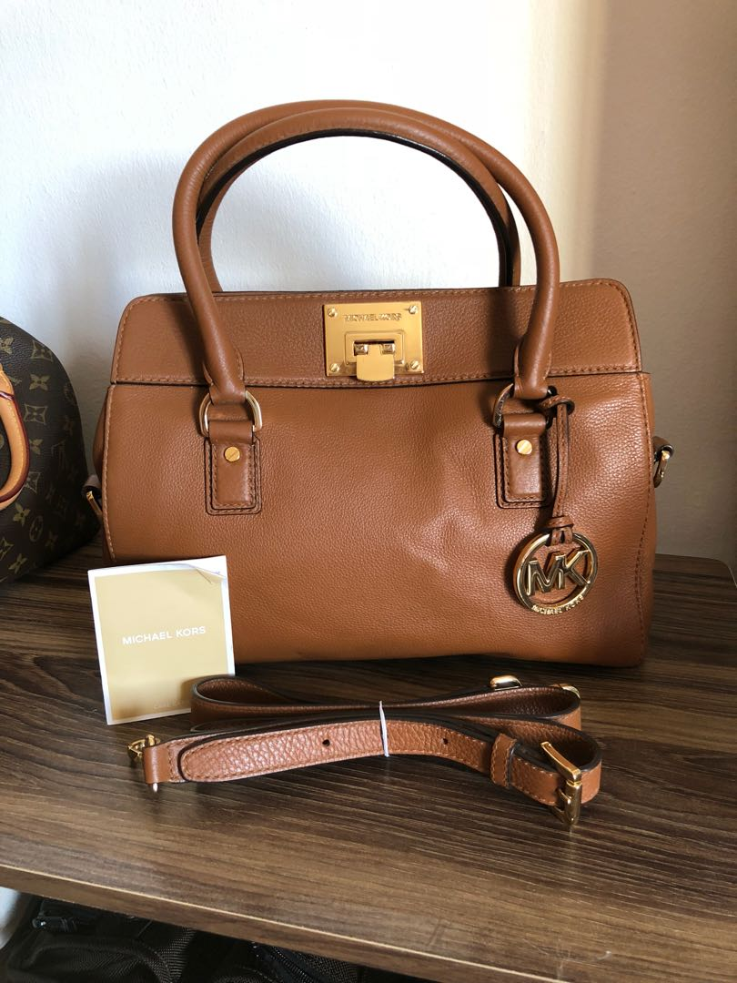 Authentic Michael Kors Astrid Satchel Leather 337117348