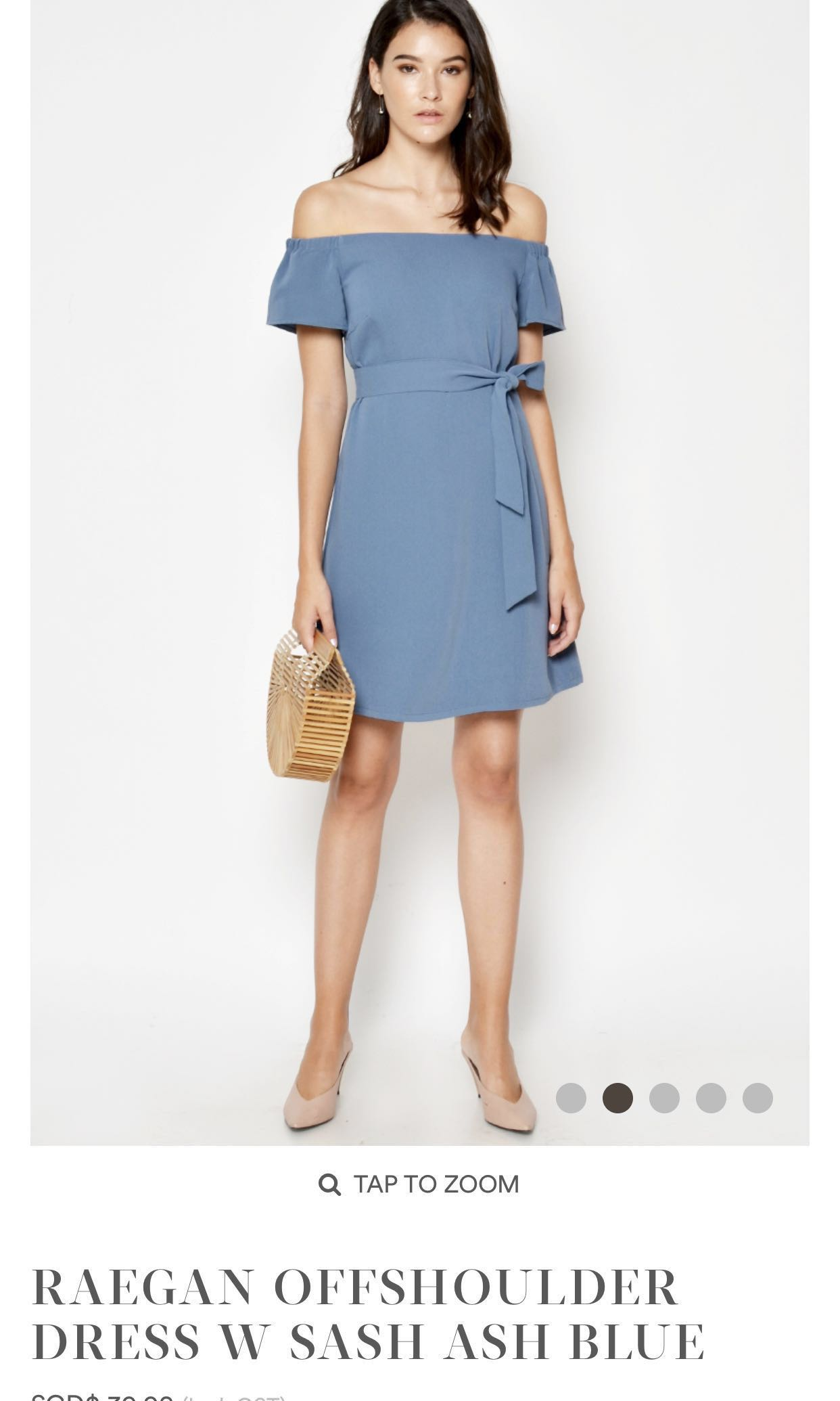 32408f792a BNWT Off-Shoulder Dress with Sash