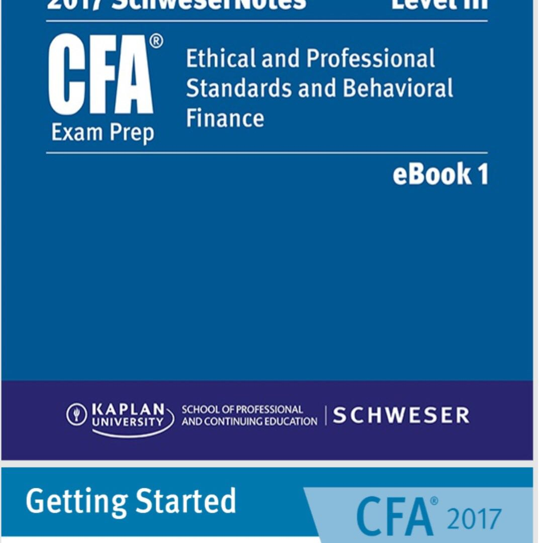 CFA Level 3 Schweser Notes 2017 PDF + 2007-2017 Past Year Essay Questions  Paper & Solutions PDF