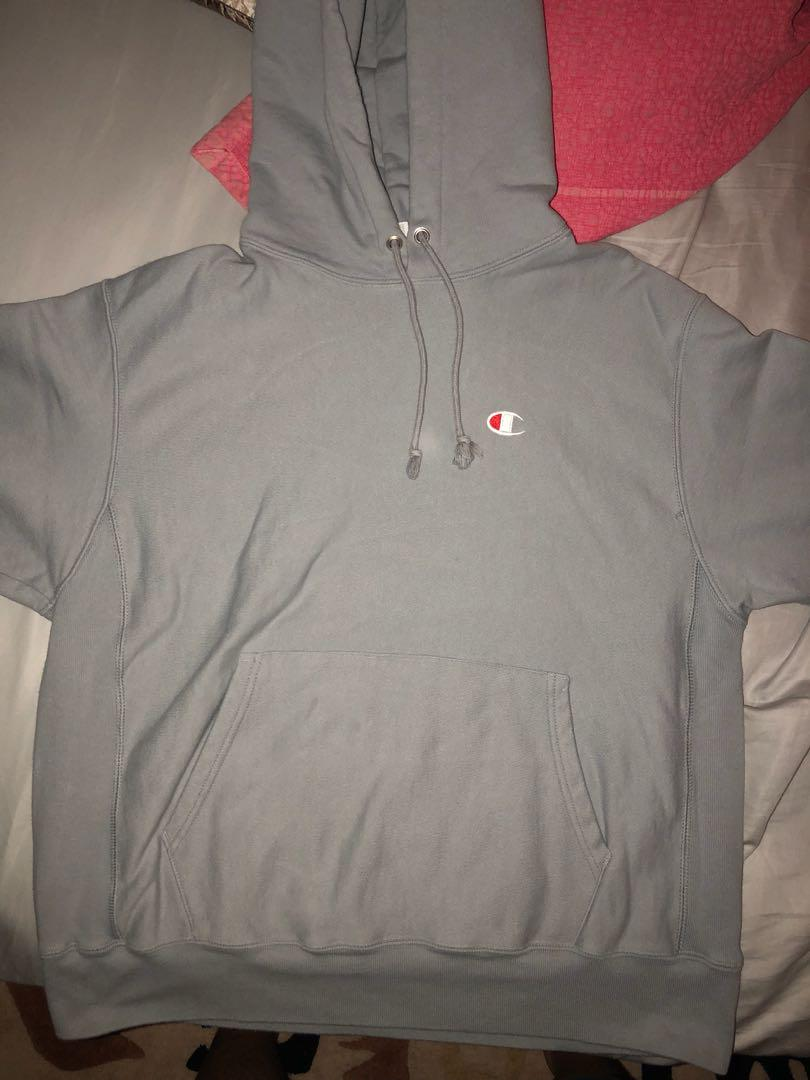 Champion reverse weave hoodie heather, size Large