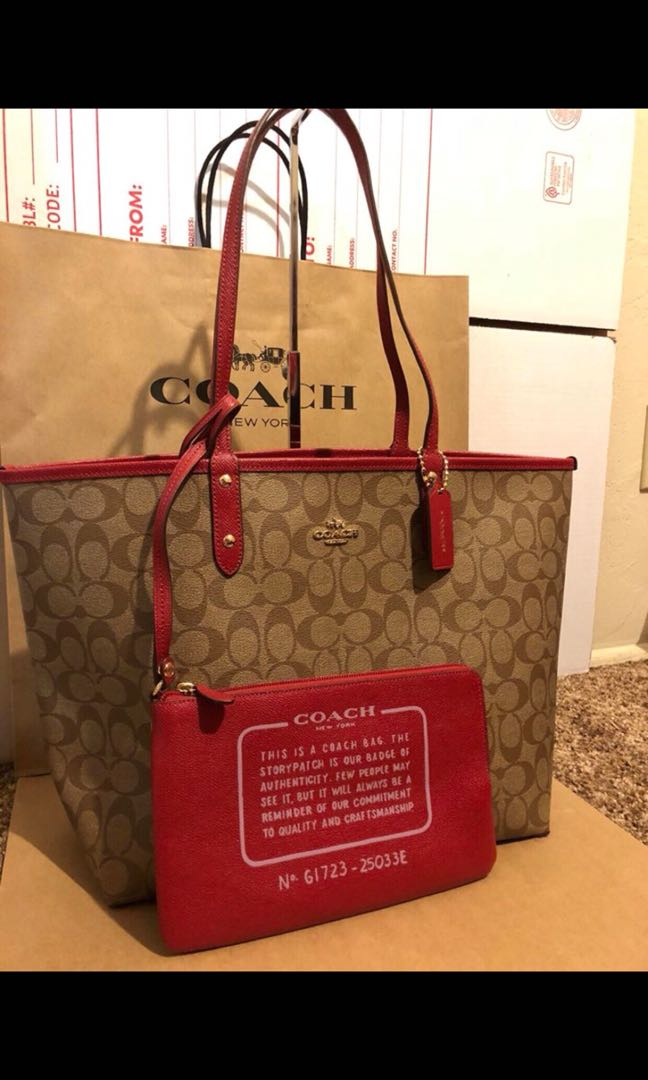 b27d9a13b5d1 authentic coach reversible city tote bag womens fashion bags wallets on  carousell 7640f f59ef