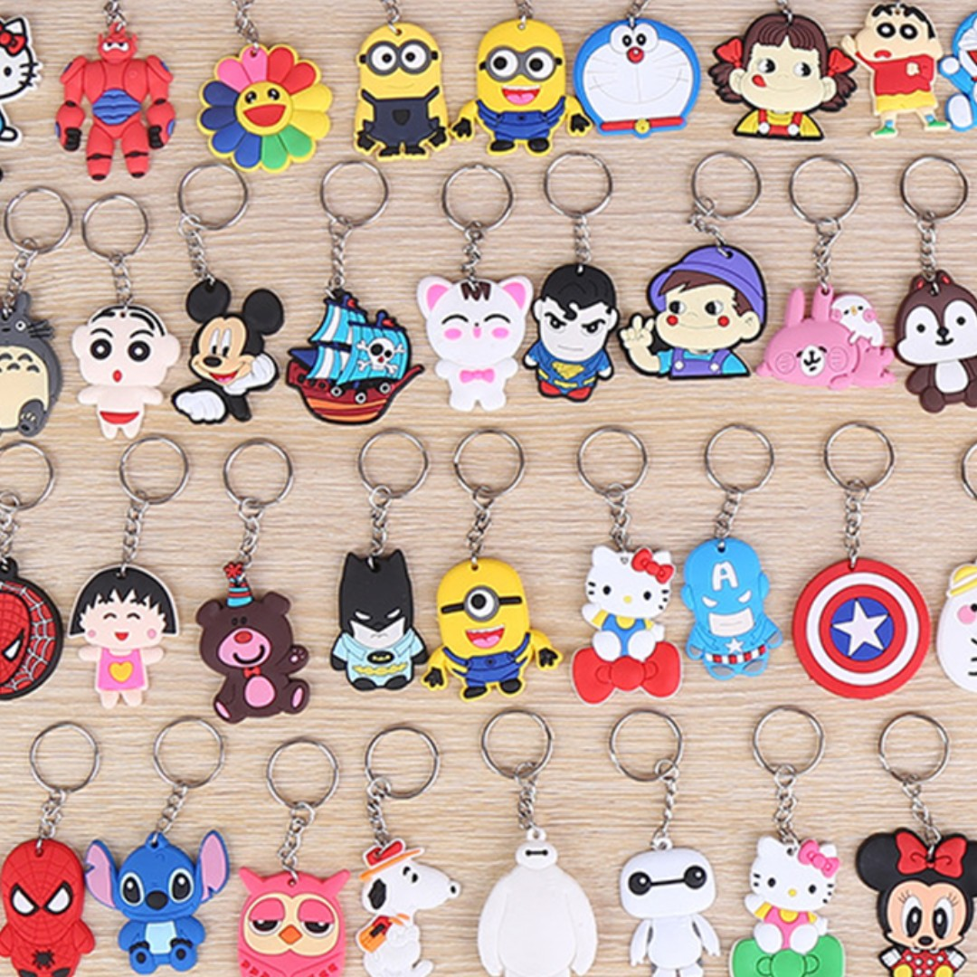 $0 50 Cute Small Cartoon Keychains Goodie Bag Gifts