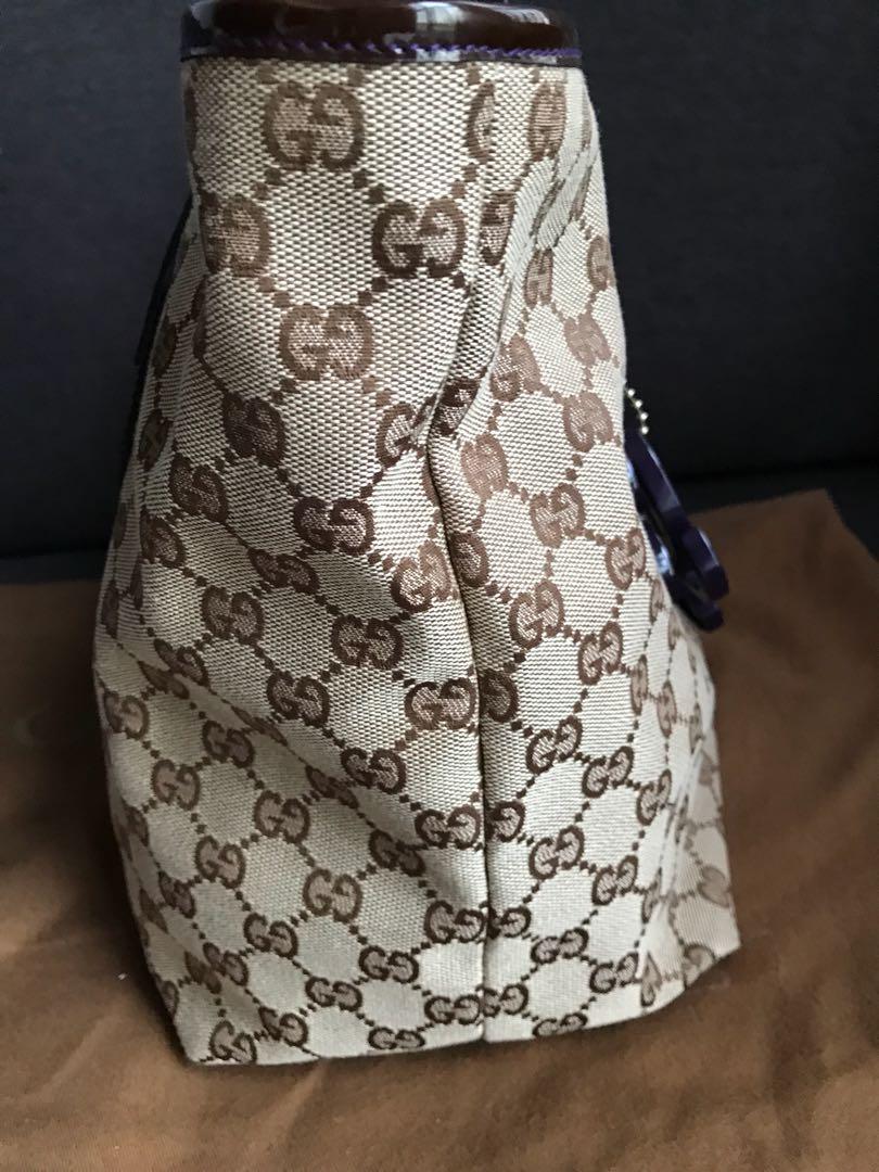 f61a1c5e0341 Gucci Monogram Canvas Jolie Tote Bag