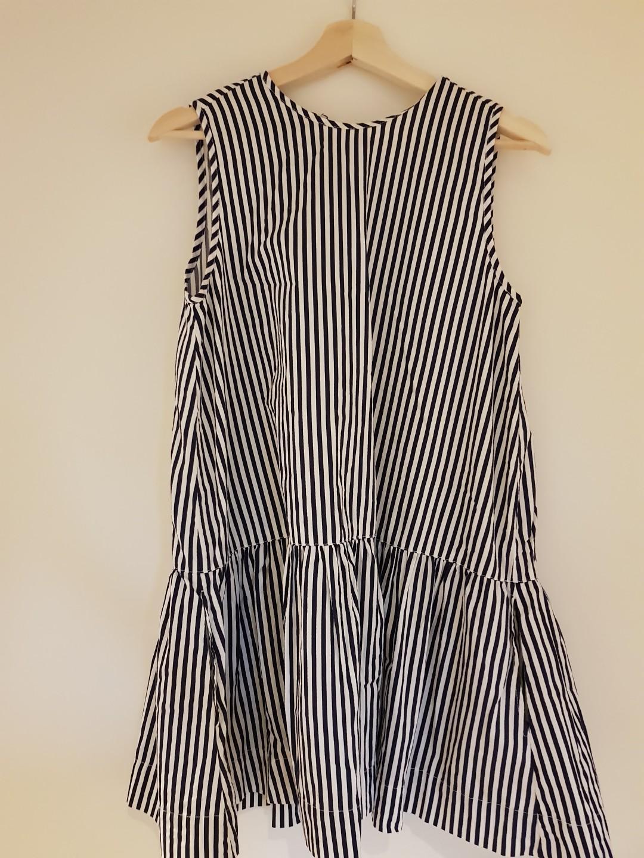 Huffer navy striped dress