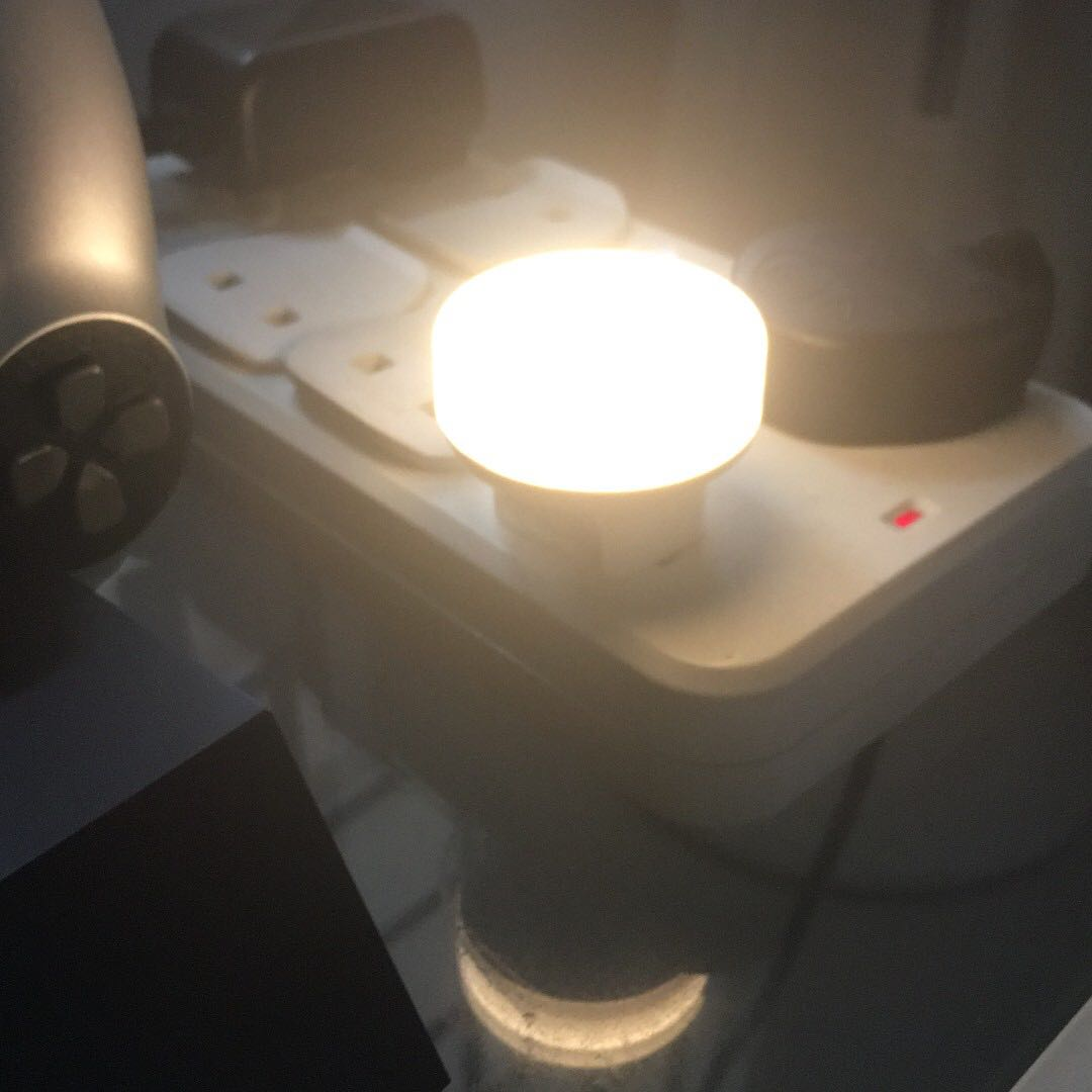 Image of: Ikea Morkradd Led Ambient Light Sensing Night Light Furniture Home Decor Lighting Supplies On Carousell