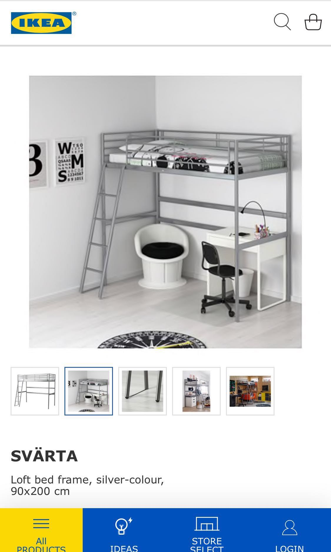Picture of: Ikea White Loft Bed Queen Size With Mattress Furniture Beds Mattresses On Carousell
