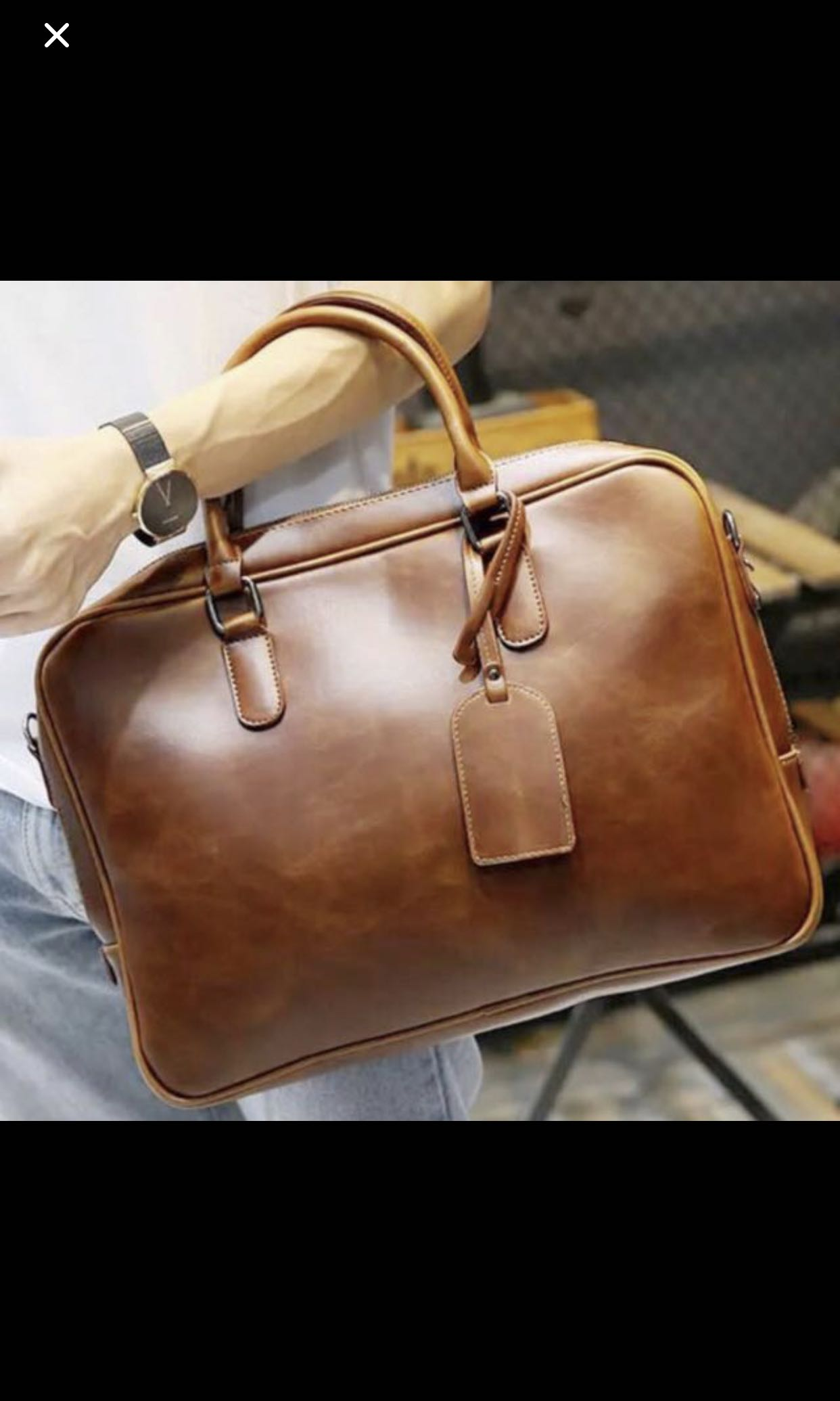 c11266c5c Homme Brown Faux Leather Laptop bag 15.6 inch - iPad Pro bag - Brown  document briefcase - Mens Formal bag, Men's Fashion, Bags & Wallets, Sling  Bags on ...