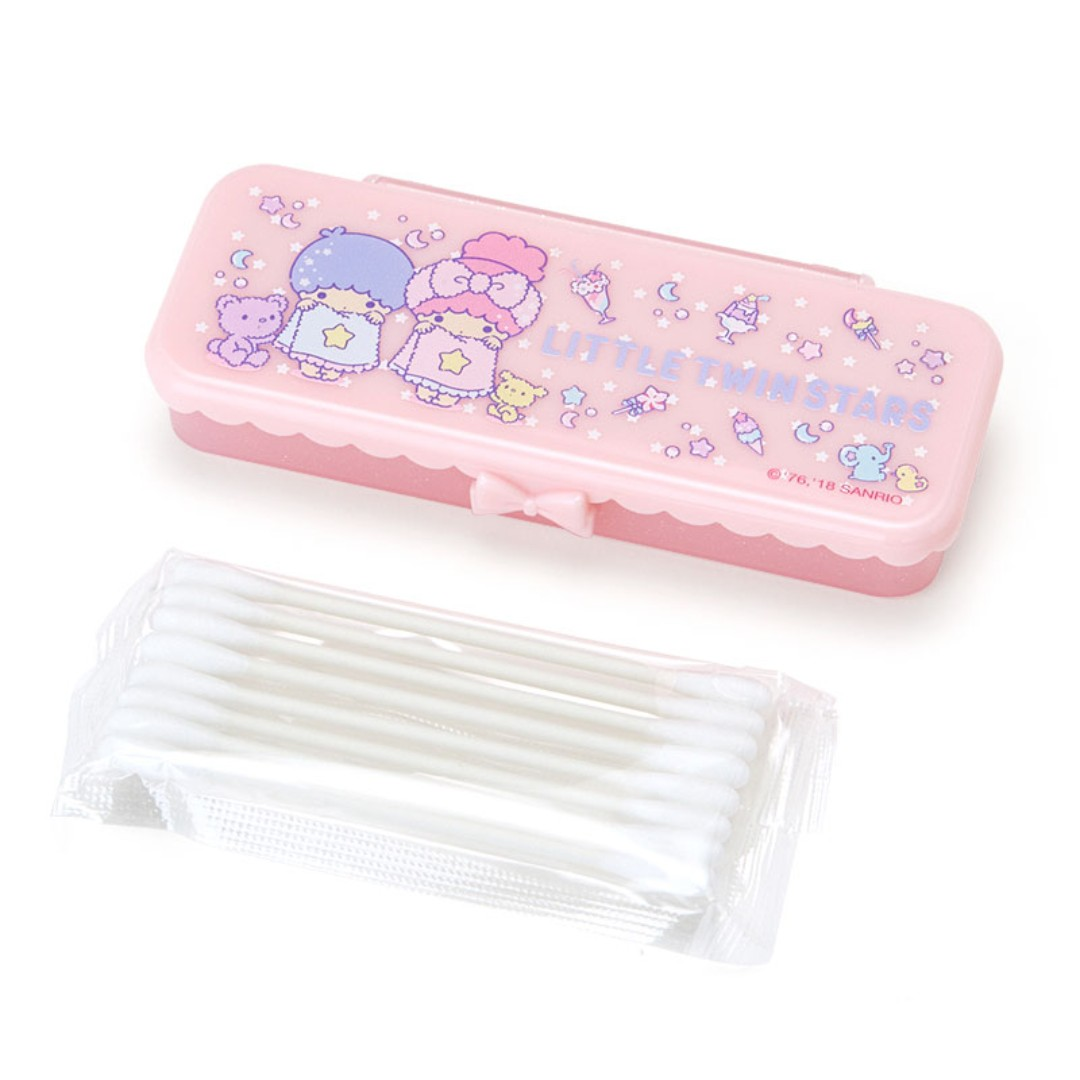 a10e279275 Japan Sanrio Little Twin Stars Swab Case (Sweet Bath Time)