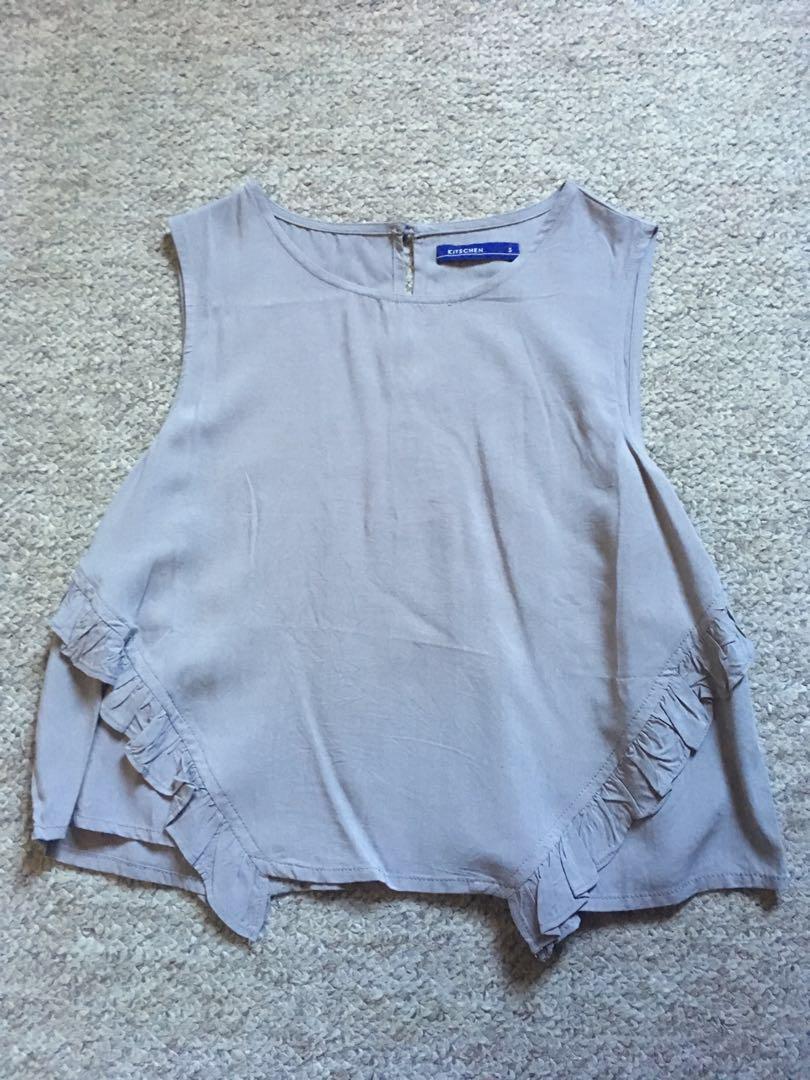 Khaki grey blouse