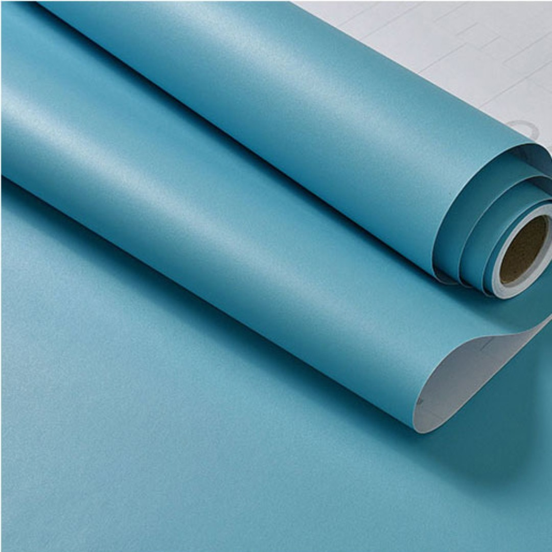 Matte Turquoise Contact Paper Wallpaper Self Adhesive