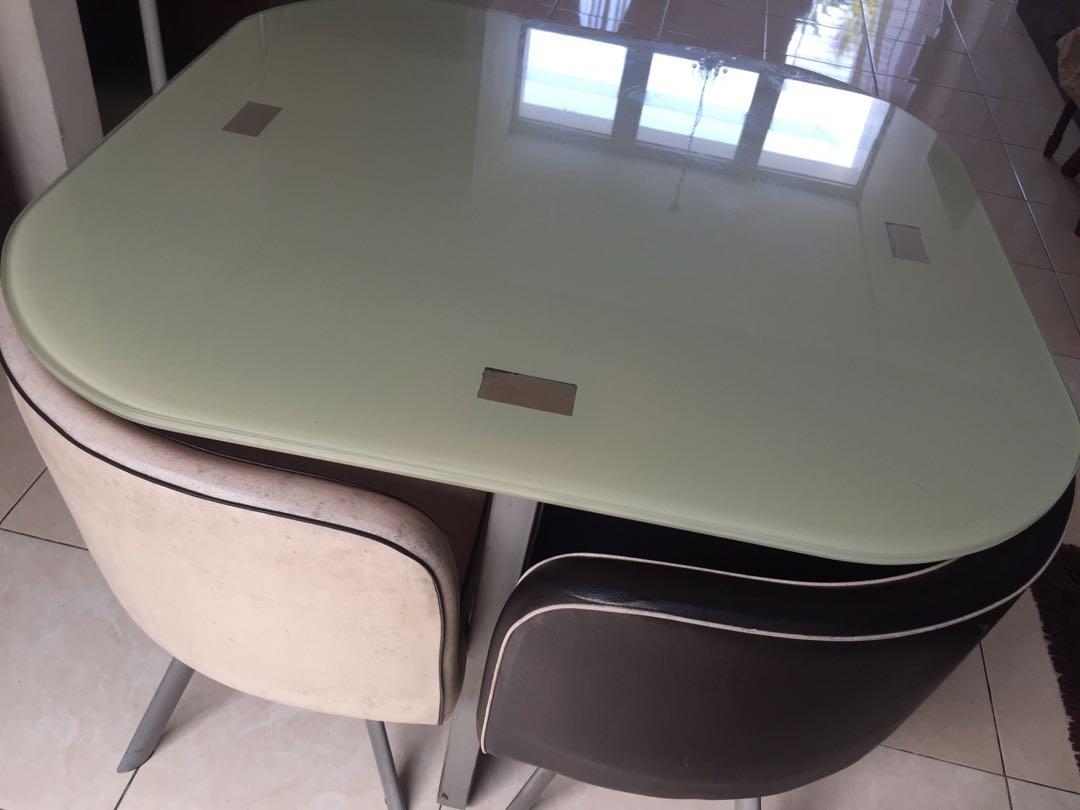 Meja Makan Dining Set Informa Minimalis Home Furniture On
