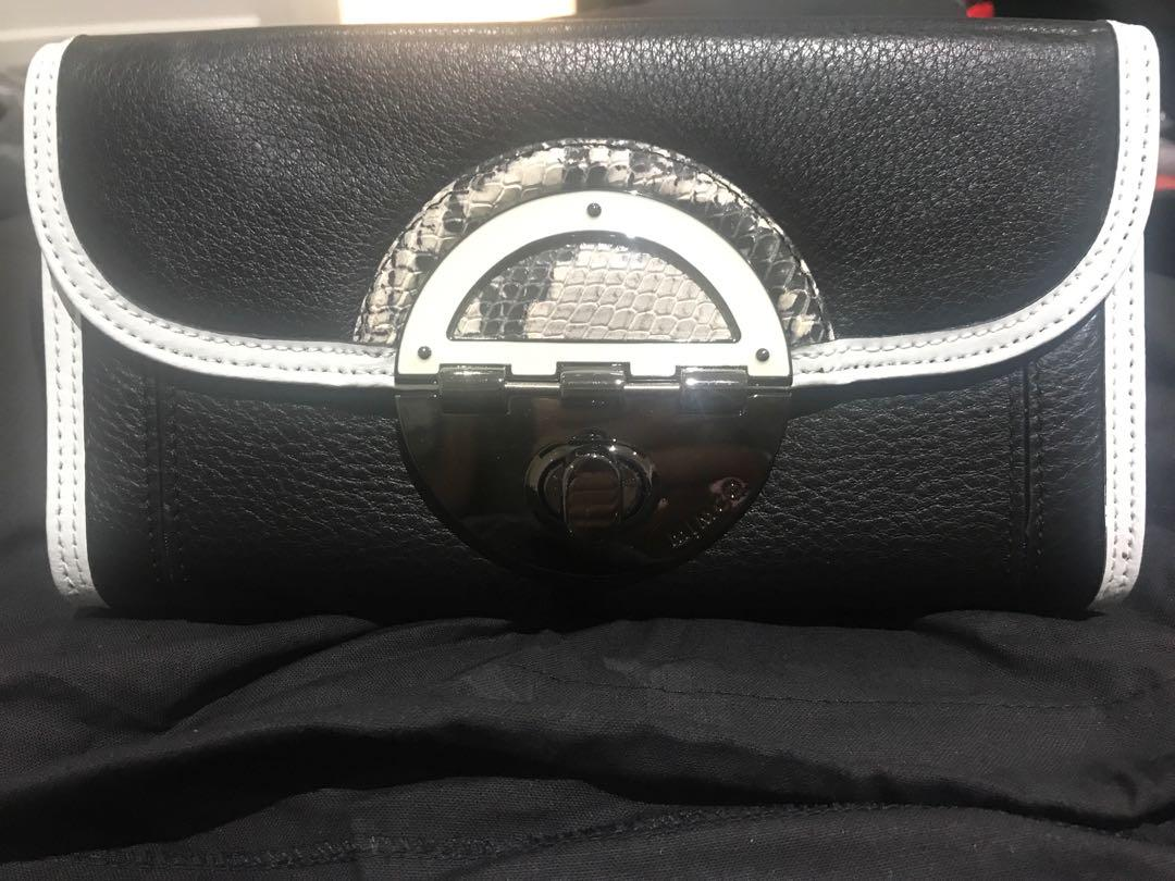 Mimco Black and White Travel Wallet